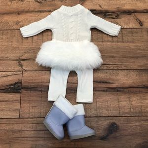American Girl soft as snow outfit